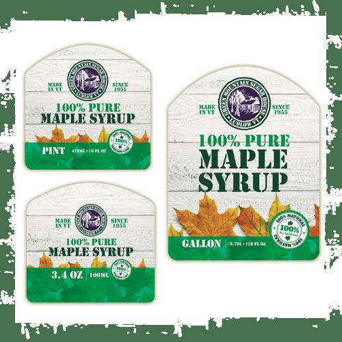 maple product label design
